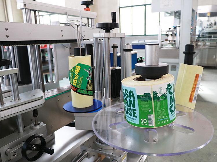 Машина за етикетиране на плоски кръгли бутилки с два стикера Automaitc