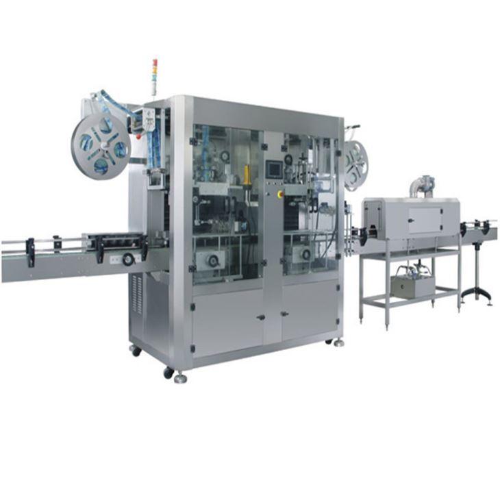 Автоматична машина за етикетиране с термоуплътнителни втулки с PVC етикет с двойна глава