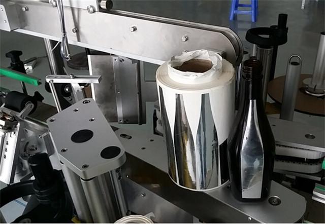 Автоматична двустранна етикетираща машина за бутилки с лосион за шампоан Подробности
