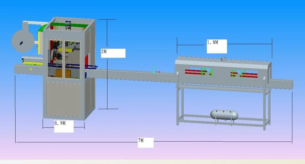 Автоматична машина за етикетиране на бутилки с минерална вода за свиване на ръкави