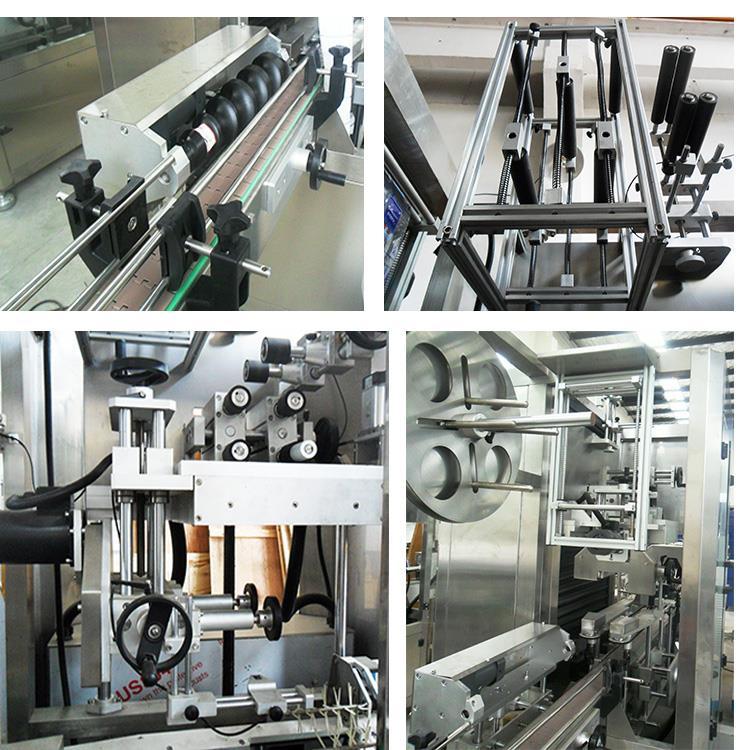 Автоматична пластмасова машина за етикетиране на термоуплътняваща ръкав бутилка за вода