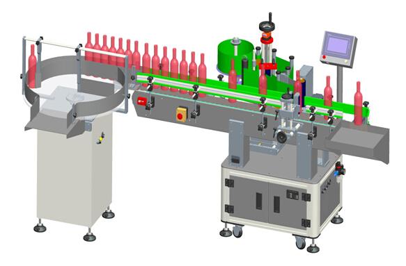Автоматични вертикални етикети за прозрачно етикетиране на червено вино Детайли на машината