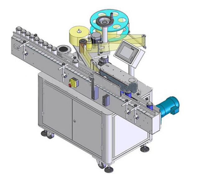 Автоматична вертикална машина за етикетиране на кръгла бутилка
