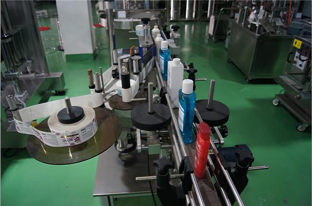Автоматично конфигуриране на машина за етикетиране на вертикални кръгли бутилки
