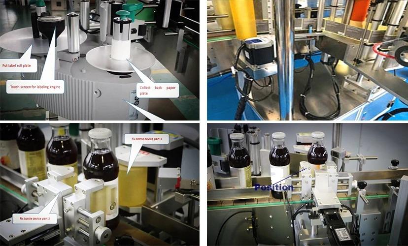 Фабрична цена Кръгла бутилка Автоматична машина за етикетиране с фиксирана позиция за продажба