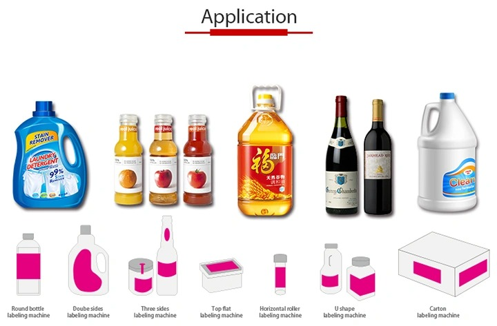 Напълно автоматична машина за етикетиране на стикери за самозалепваща се стъклена бутилка