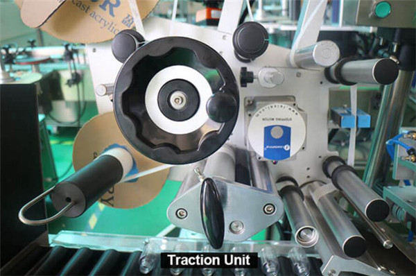 Високоскоростни хоризонтални опаковъчни кръгли бутилки Спринцовки Спринцовки Детайли на оборудването за етикетиране