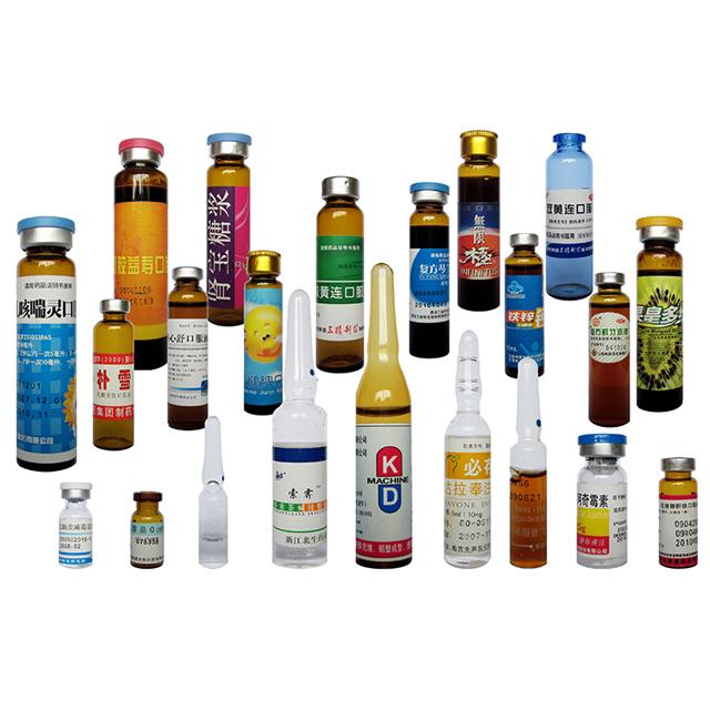 Машина за етикетиране на флакони с линейни хоризонтални сервомоторни ампулни бутилки