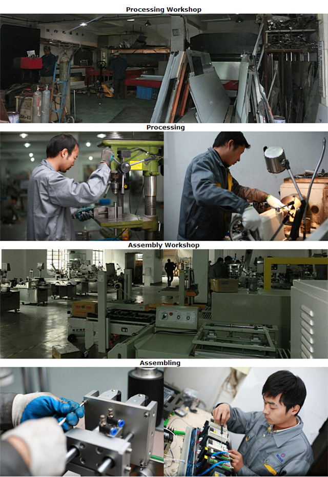 Обработка за производство на машина за етикетиране на бутилки с плоски бутилки с плоска повърхност