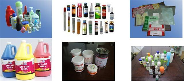 Проби за персонализирана ротационна машина за етикетиране с форми за държане на контейнери